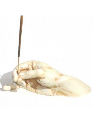 Hand Incense Burner Antique Ivory