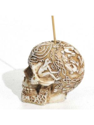 Fancy Skull Incense Burner