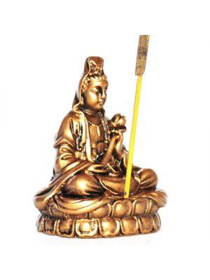 Resin Quan Yin Incense Burner