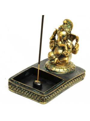 Ganesha Resin Incense Burner 4.75