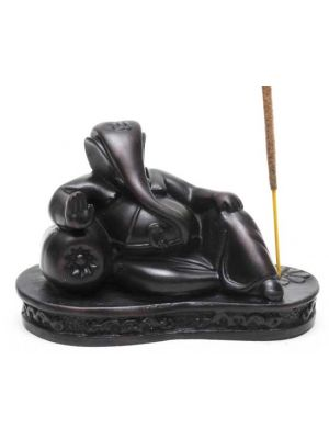 Reclining Ganesha Resin Incense Burner 4.5