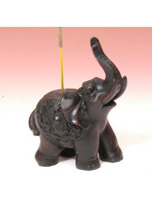 Incense Burner Resin Elephant 3.25