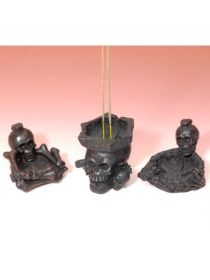 Resin Incense Burner Skull Set/3