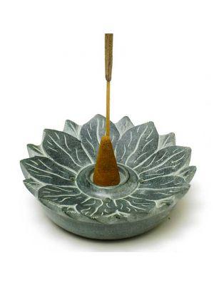 Soap Stone Lotus Incense Burner