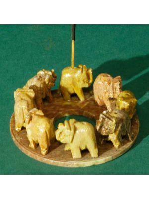 Stone Circle of 8 Elephants Burner for Incense Sticks 4