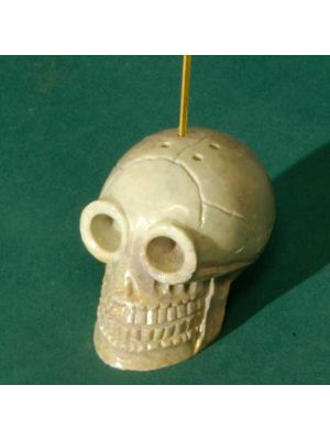 Stone Skull Incense Burner, 1.5