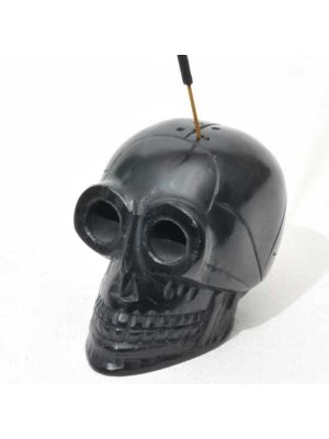 Black Stone Skull Incense Burner 3