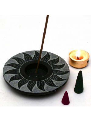 Sun Black Soapstone Multipurpose Burner