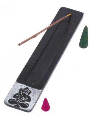 Ganesha Black Soapstone Incense Ash Catcher