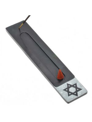 6 Point Star Black Soapstone Incense Ash Catcher