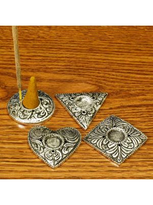 Incense Burner White Metal Plates Set/4. 1.5