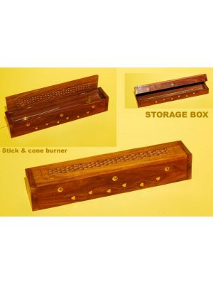 Incense Burner Box Stick/Cone Storage 12