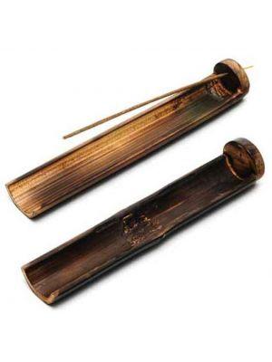 Burnt Bamboo Incense Burner