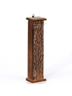 Incense Burner Tower Mango Wood Tree