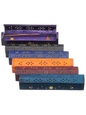 Incense Burner Box Dyed & Inlaid Set/6