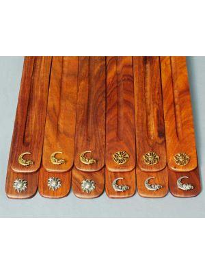 Wooden Incense Burners - Celestial Symbols Set/12