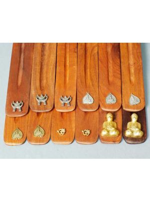 Wooden Incense Burners - Diety Symbols Set/12