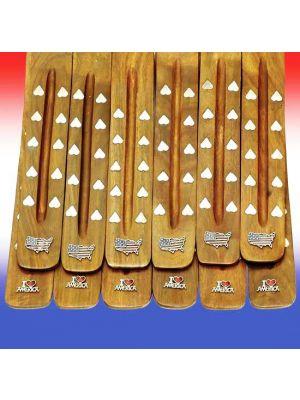 Wooden Incense Burners - Liberty Symbols Set/12