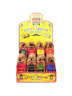 Great Indian Incense Display - 72 packs