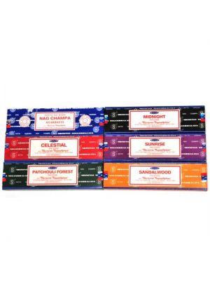 Satya Nag Champa Incense 100g (6 scents)