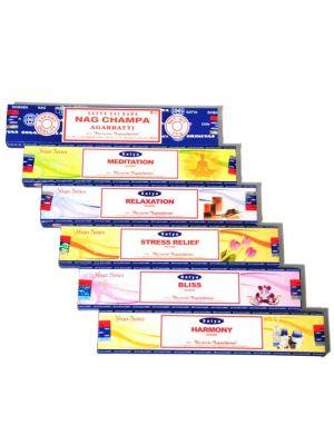 Satya Yoga Series Incense 15g Box/12 (6 scents)