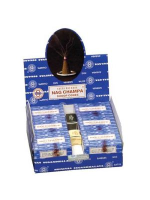 Satya Nag Champa Incense Cones Display