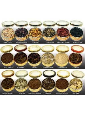 Resin Incense Tin 75 g. (18 scents)