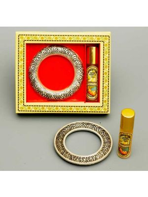 India Temple Aroma Oil With White Metal Ring
