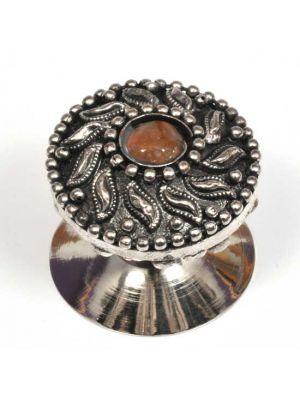 Metal Knob With Center Gem .