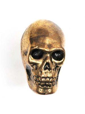 Golden Metal Skull Knob.