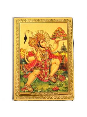Gold Hanuman Fridge Magnet