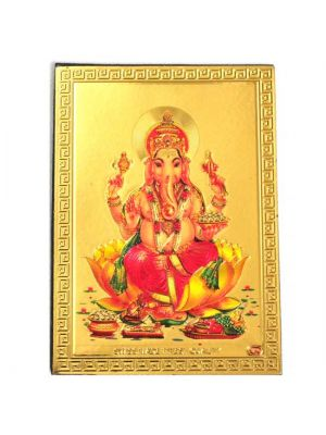 Gold Ganesha Fridge Magnet