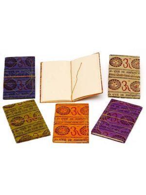 Hand Made Notebooks Printed Om Large - Set/6