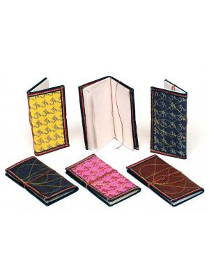 Hand Made Om Printed Notebook Small - Set/6