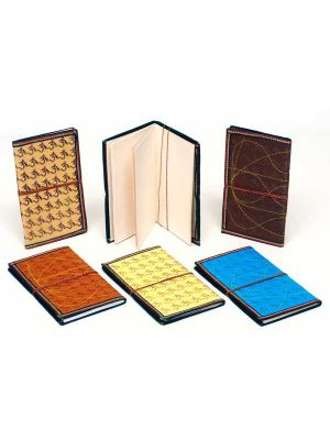 Hand Made Om Printed Notebook Large - Set/6