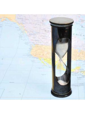 Brass Hourglass Timer