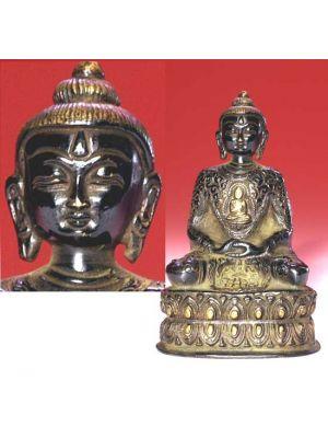 Oxidised  Metal Amitabha Buddha 5.5