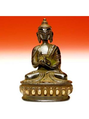 Oxidized Metal Buddha Kamal 4.5