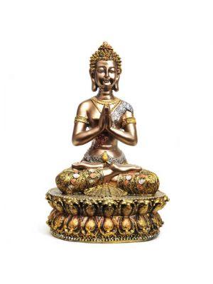 Gold/Silver Polyresin Buddha 13.5