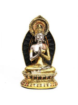 Gold/Silver Polyresin Buddha 6.75