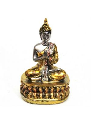 Gold/Silver Polyresin Buddha 6