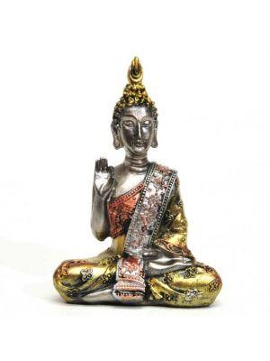 Gold/Silver Polyresin Buddha 4