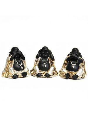 3 Buddhas Polyresin Figurines 3