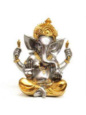 Gold/Silver Polyresin Ganesha 8