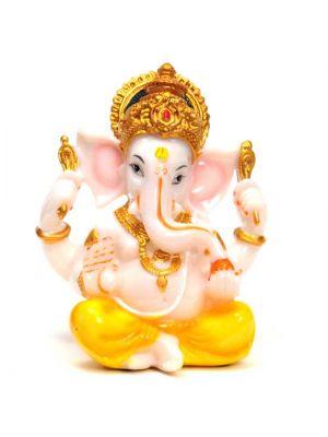 Painted Polyresin Ganesha 5.25