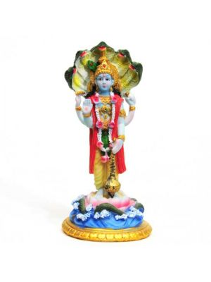 Painted Polyresin Vishnu 6.5