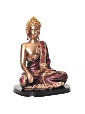 Polyresin Gold Mosaic Buddha 9.75