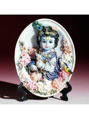 Polyresin Krishna Plate  4.5