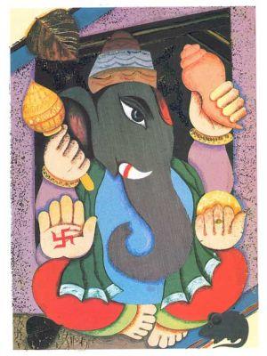 Ganesh Handprinted 11
