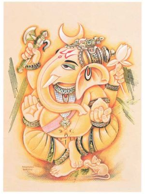 Beautiful  Handprint of Ganesh 13.75